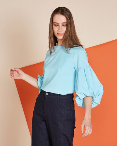 Lennon Courtney at Dunnes Stores Blue Magnolia Blouse