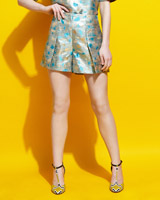 azure Lennon Courtney at Dunnes Stores Blue Jacquard Shorts (Limited Edition)