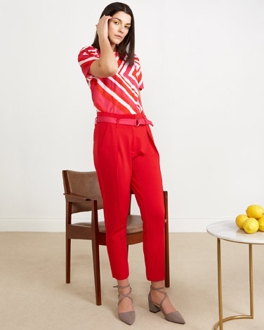 red Lennon Courtney at Dunnes Stores Pleat Front Trousers