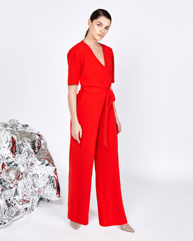 red Lennon Courtney at Dunnes Stores V-Neck Jumpsuit