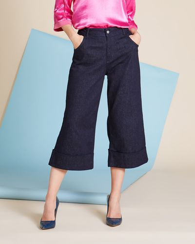 Lennon Courtney at Dunnes Stores High-Waist Flare Turn-Up Jeans