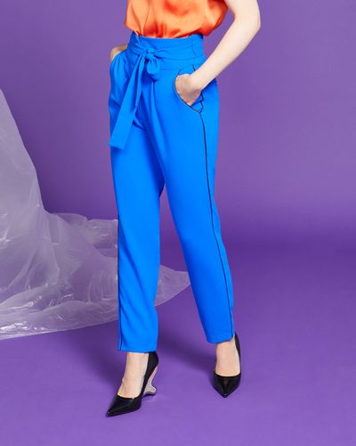 Lennon Courtney at Dunnes Stores Cobalt High Waist Trousers
