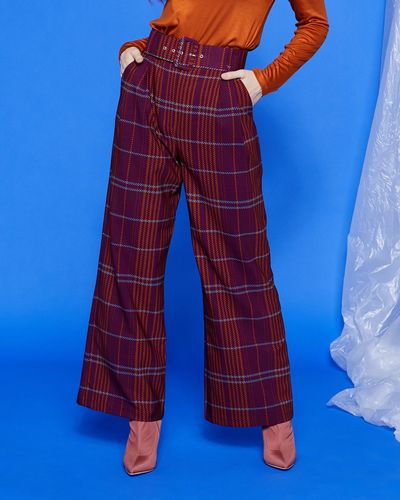 Lennon Courtney At Dunnes Stores Check Trousers