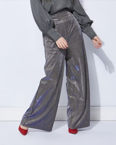 Lennon Courtney at Dunnes Stores Glitter Wide Leg Trousers