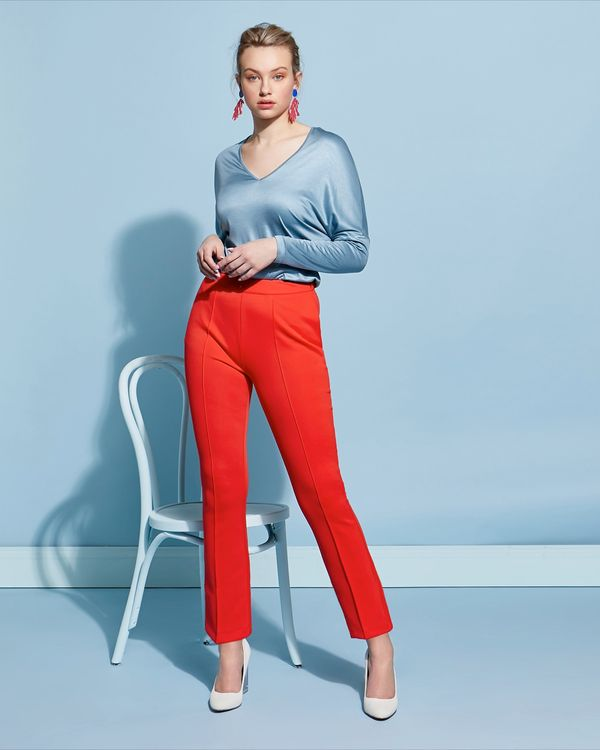 Lennon Courtney at Dunnes Stores Red Hot Kick Flare Trousers