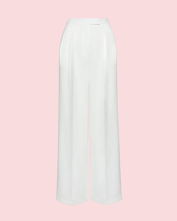 Lennon Courtney at Dunnes Stores White Wide Leg Trousers