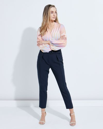 Lennon Courtney at Dunnes Stores Navy Centre Seam Trousers