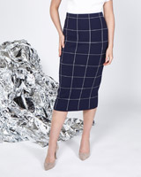 navy Lennon Courtney at Dunnes Stores Navy Knit Skirt