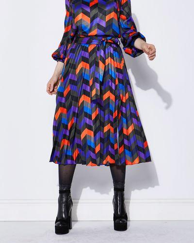 Lennon Courtney at Dunnes Stores Print Pleat Skirt