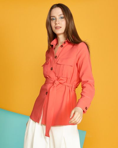 Lennon Courtney at Dunnes Stores Coral Safari Jacket