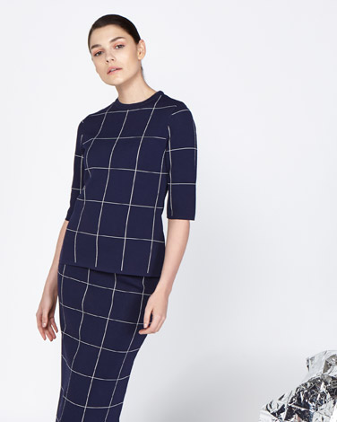 multi Lennon Courtney at Dunnes Stores Grid Knit Top