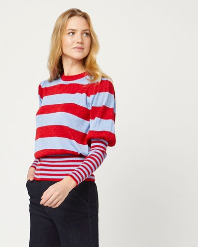 Lennon Courtney at Dunnes Stores Bold Stripe Crew Jumper