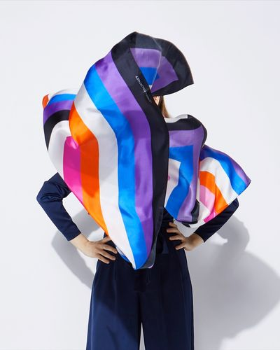 Lennon Courtney at Dunnes Stores Stripe Silk Scarf