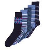 navy Bamboo Socks - Pack Of 5