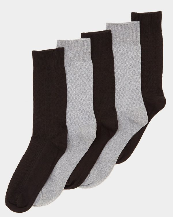 Textured Modal Socks - Pack Of 5