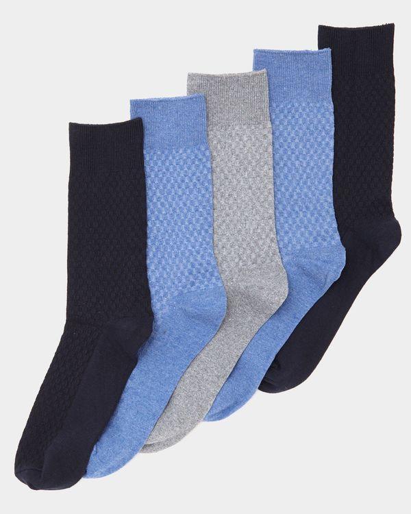 Textured Modal Socks - Pack Of 5