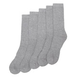 grey Sports Socks - 5 Pack