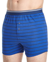 navy-stripe Loose-Fit Boxer - 3 Pack