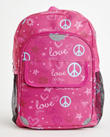 pink Print Backpack