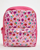 pink Cupcake Print Backpack