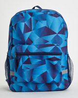 blue-navy Print Backpack