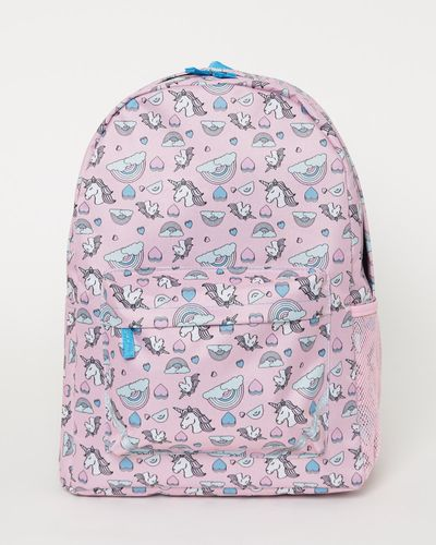 Girls Basic Printed Backpack