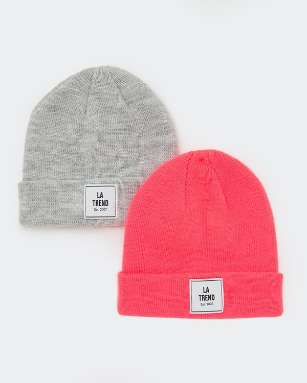 Basic Hat - Pack Of 2 (3-11 years)