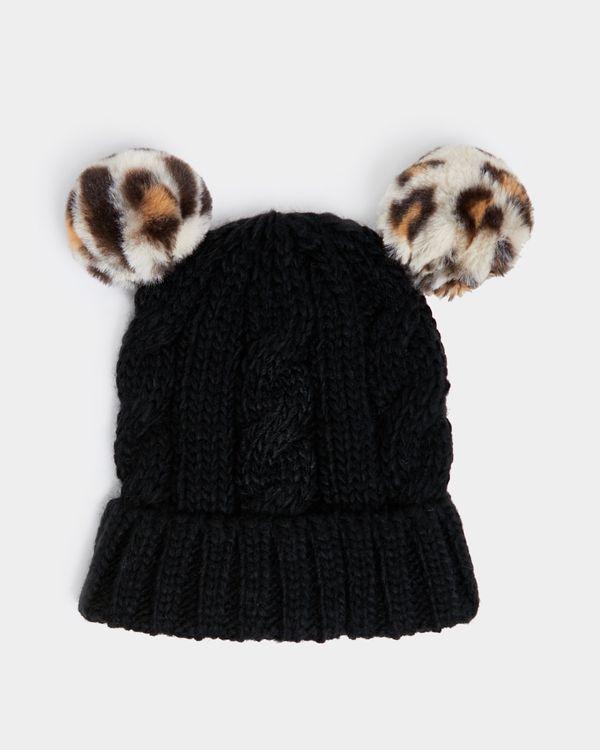 Leopard Pom Hat (3-11 years)