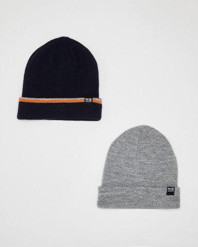 Boys 2 Pack Basic Beanie Hat