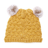 yellow Double Pom Pom Hat