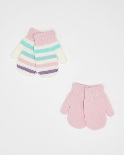 Baby Girls Mittens - Pack Of 2
