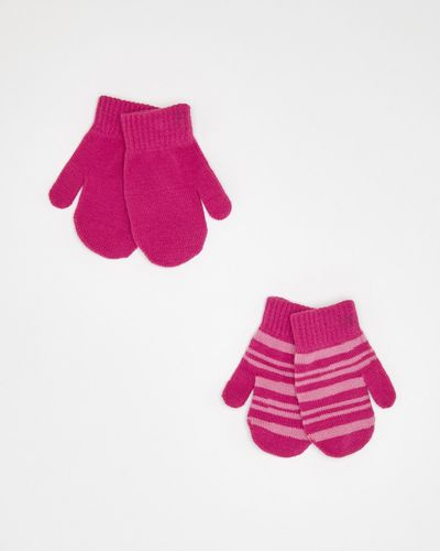 Baby Girls Mittens - Pack Of 2