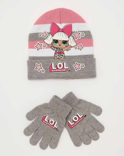 LOL Beanie And Mitten Set
