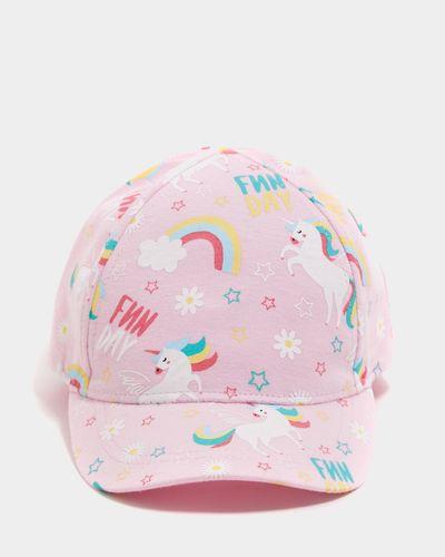 Baby Girls Print Cap (6 months-6 years)