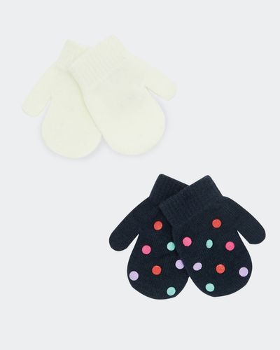 Basic Mittens - Pack Of 2 (6 months - 3 years) thumbnail