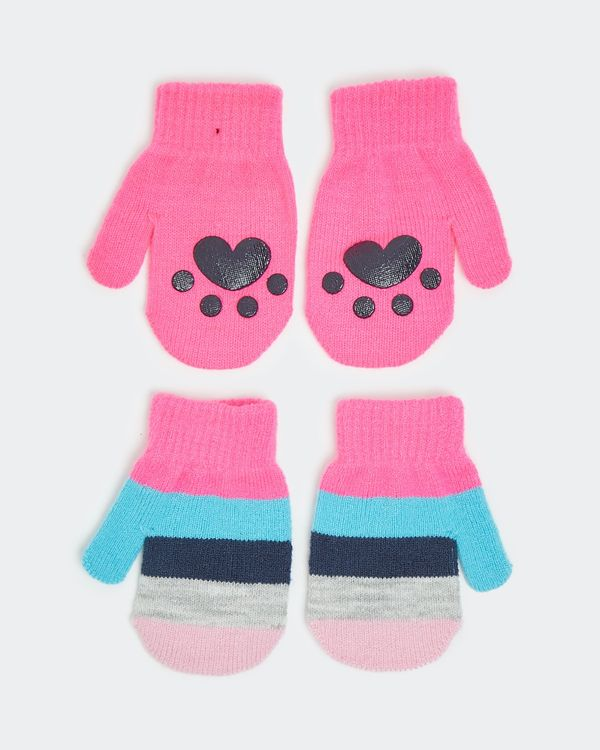 Basic Mittens - Pack Of 2 (6 months - 3 years)