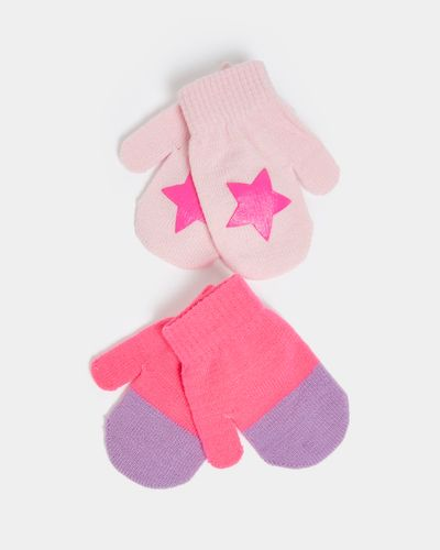 Basic Mitten - Pack Of 2 (6 months - 3 years)