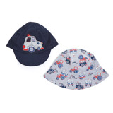 navy Two Pack Cap And Fisherman Hats