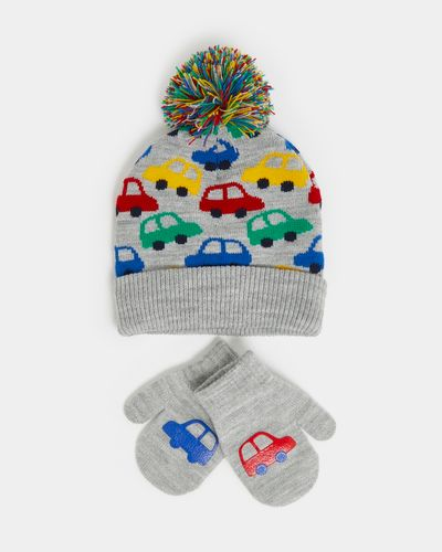 Novelty Jacquard Hat And Mitten Set (6 months - 6 years)