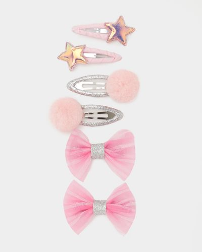 Corsage Hair Clips Set - Pack Of 6