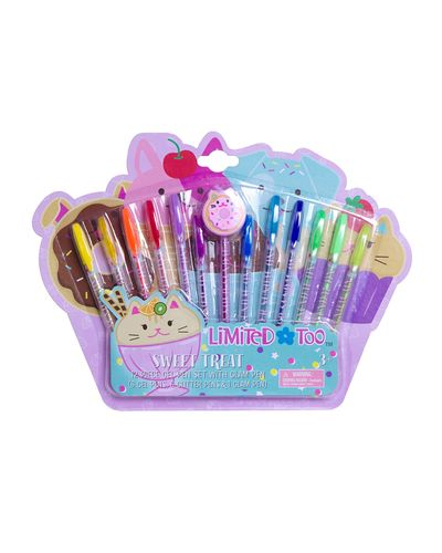 12 Piece Gel Pen With Glam Pen Set