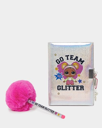 Lockable Diary And Pom-Pom Pen