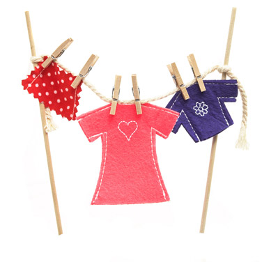 pink Girls Fairy Clothes Line