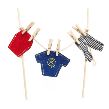navy Boys Fairy Clothes Line