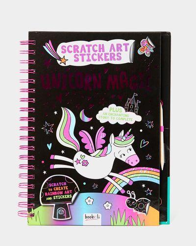 Scratch Art Stickers Book