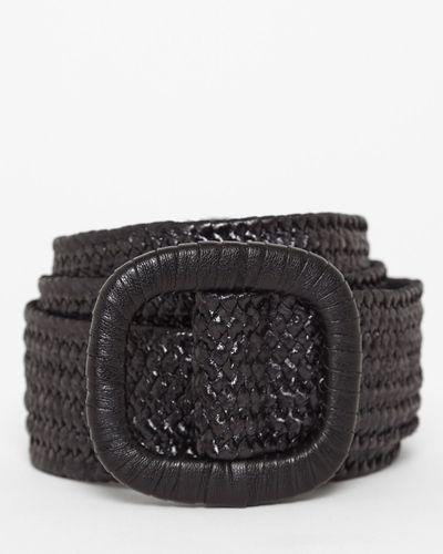 PU Buckle Woven Belt