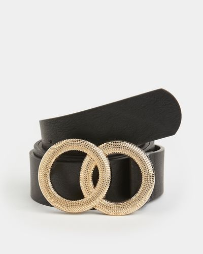 Decorative Buckle Double Ring Belt
