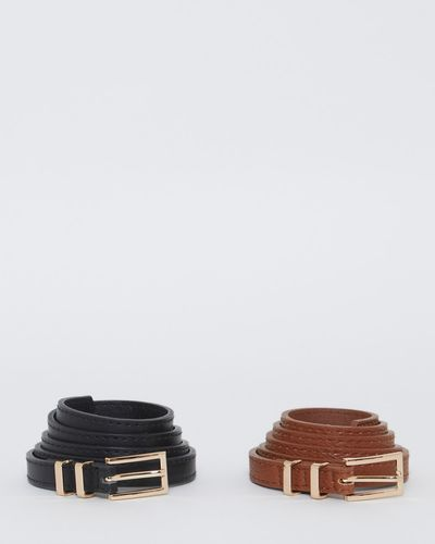 Skinny Belts - Pack Of 2