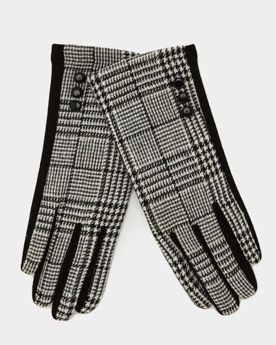 Touchscreen Houndstooth Gloves