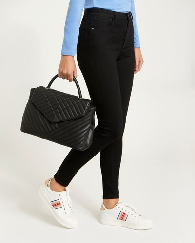 Quilted Flap Tote